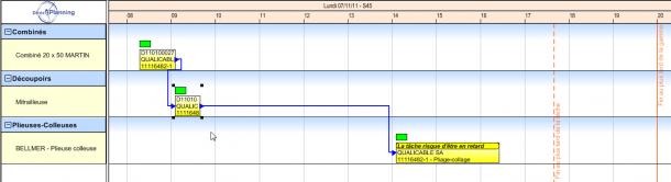 Direct Planning Industrie - Un ordre de fabrication : un enchainement de tâches liées par des contraintes de précédence