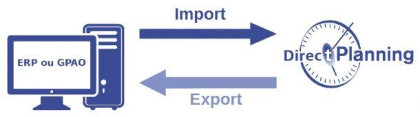 Direct Planning - Import / export de données avec un système d'information