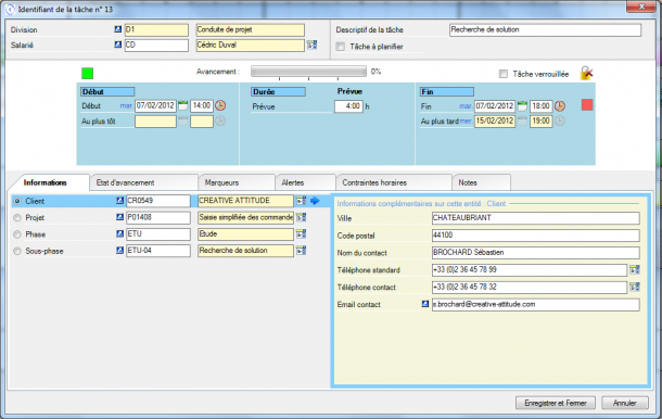 Direct Planning Project - Displaying entities in job details
