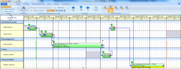Direct Planning Projet - Filtrer les tâches d'un même projet