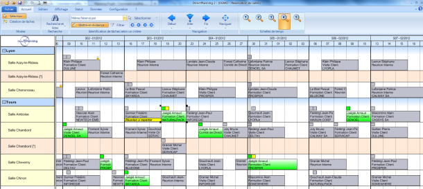 Direct Planning Service - Mettre en évidence les réservations d'un intervenant